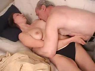 russian cutie drilled by grandfather