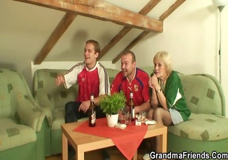 football fans bang old slut