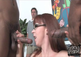 older mom owned by blacks in front of cuckold