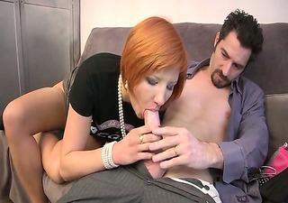 dara a mature drilled in stockings