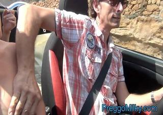pregnant flashing in my car by anna