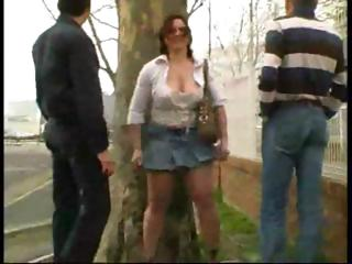 mature french doll with large boobies does two
