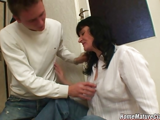mama in trouble taken home and fucked by a