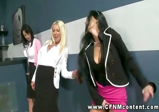 hungry babes engulf at gloryhole jointly