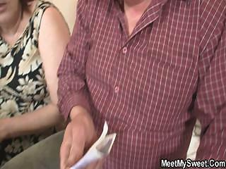 sinless angel is seduced by granny and fucked by