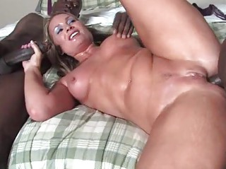 golden-haired mature does anal with blacks