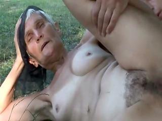 slutty unshaved granny viviana copulates below