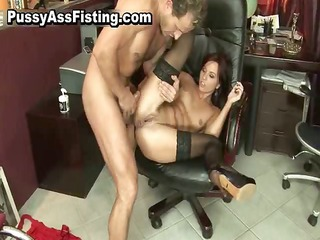 horny slut acquires her gaping asshole