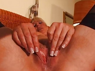 aged blonde enjoys her own body dbm movie scene
