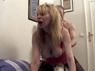 mature marie-therese is fucked in all holes (by