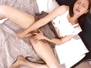 breasty mother i with tied arms giving blowjob