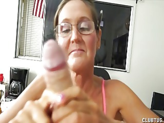 a naughty aged lady sucks and jerks