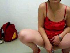 mature pee and masturbate in parking garage
