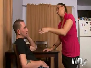 sexy milf aunt , mature milf blowjob cumshot