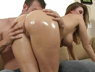 busty brunette milf with big wazoo getting pussy
