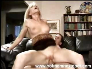 sexy mamma is doing her best to make him cum