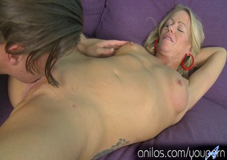 sexy blonde mama gives her neighbors penis a