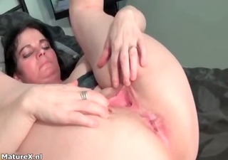 very slutty breasty woman is having
