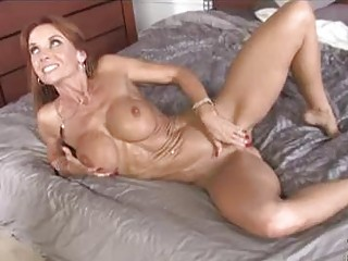skinny brunette milf with big love bubbles