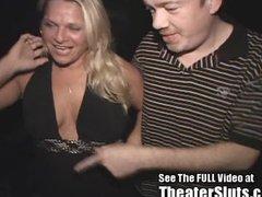 birthday milf has a public porn theater sex