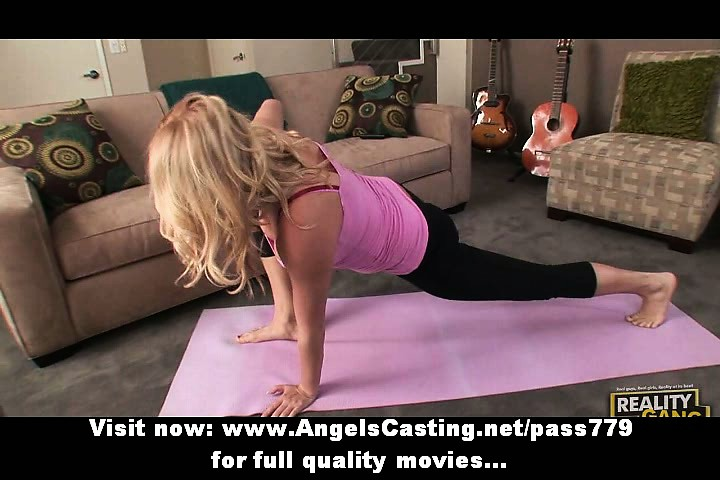 golden-haired d like to fuck does yoga and oral