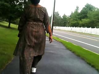 aged indian ass walking
