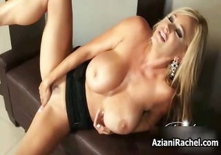 breasty blond babe goes avid dildo part3