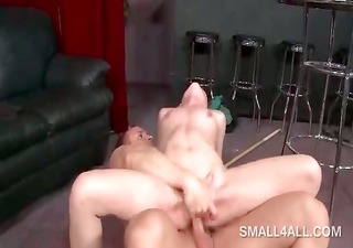 hawt wench filling her fuck hole with rod and two