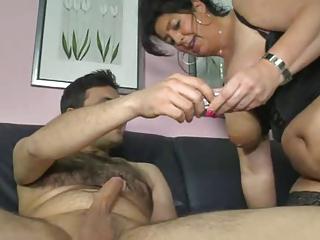 german mom shows boy how to make a woman cum