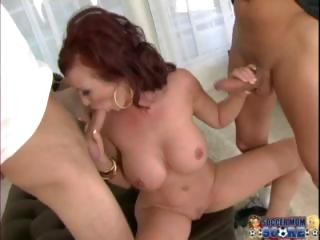 hot soccer mamma with two cocks