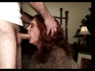 aged and experienced transvestite drilled in the