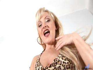 older aged golden-haired anal bead play