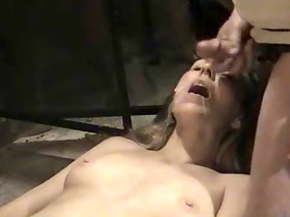 sexy wife getting a cum facial in her mouth