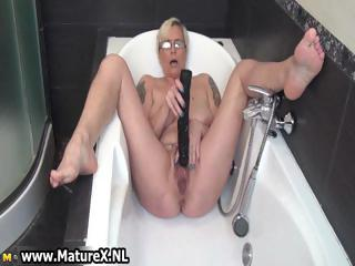 horny older lady fucking her own constricted part6
