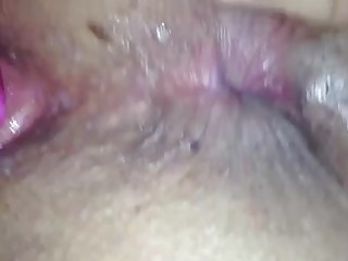 unaware wife - fake penis action - up close