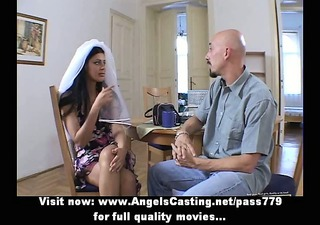 dilettante sexy brunette bride sweet talking and