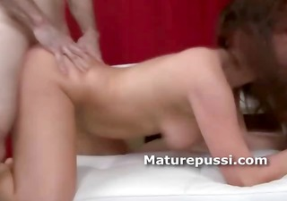 large wazoo older chick fucked doggy position by